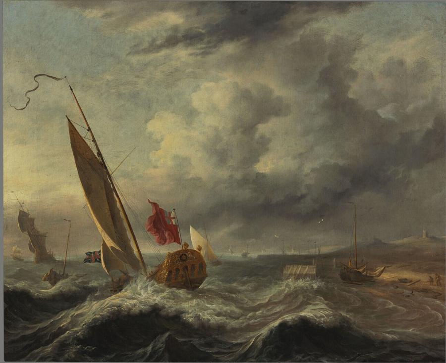 Schepen in de storm