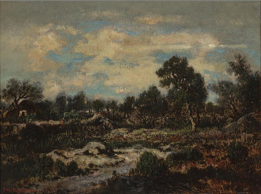 Landschap in de omgeving van Fontainebleau