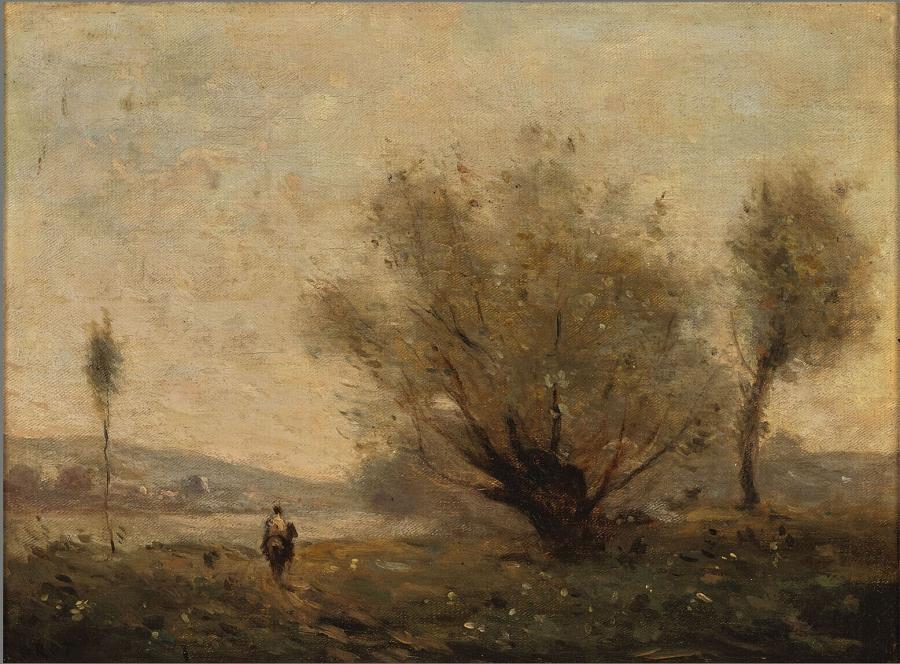 Landschap met bomen bij Ville d'Avray
