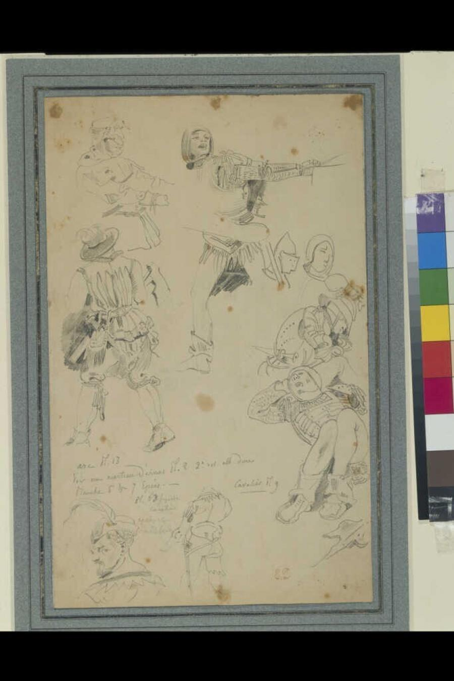 Study Sheet with Sketches after Dürer