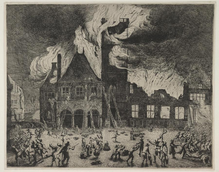De brand van het stadhuis te Amsterdam op 9 juni 1652