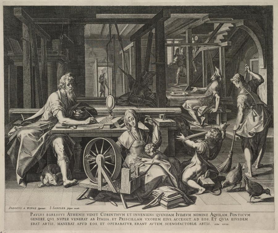 Saint Paul at Corinth with the Sailmakers Aquila and Priscilla