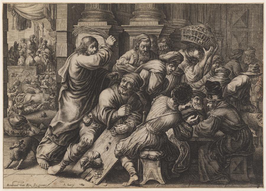 Christus verdrijft de wisselaars uit de tempel