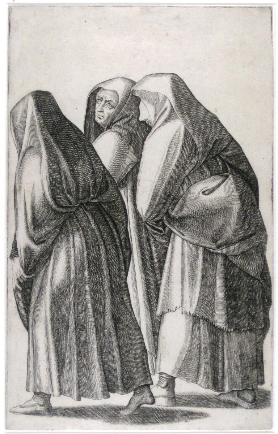 De drie vrouwen op weg naar het graf