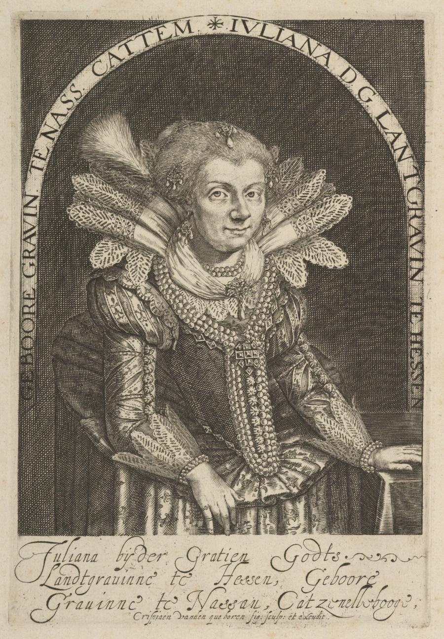 Portret van Juliana van Hessen