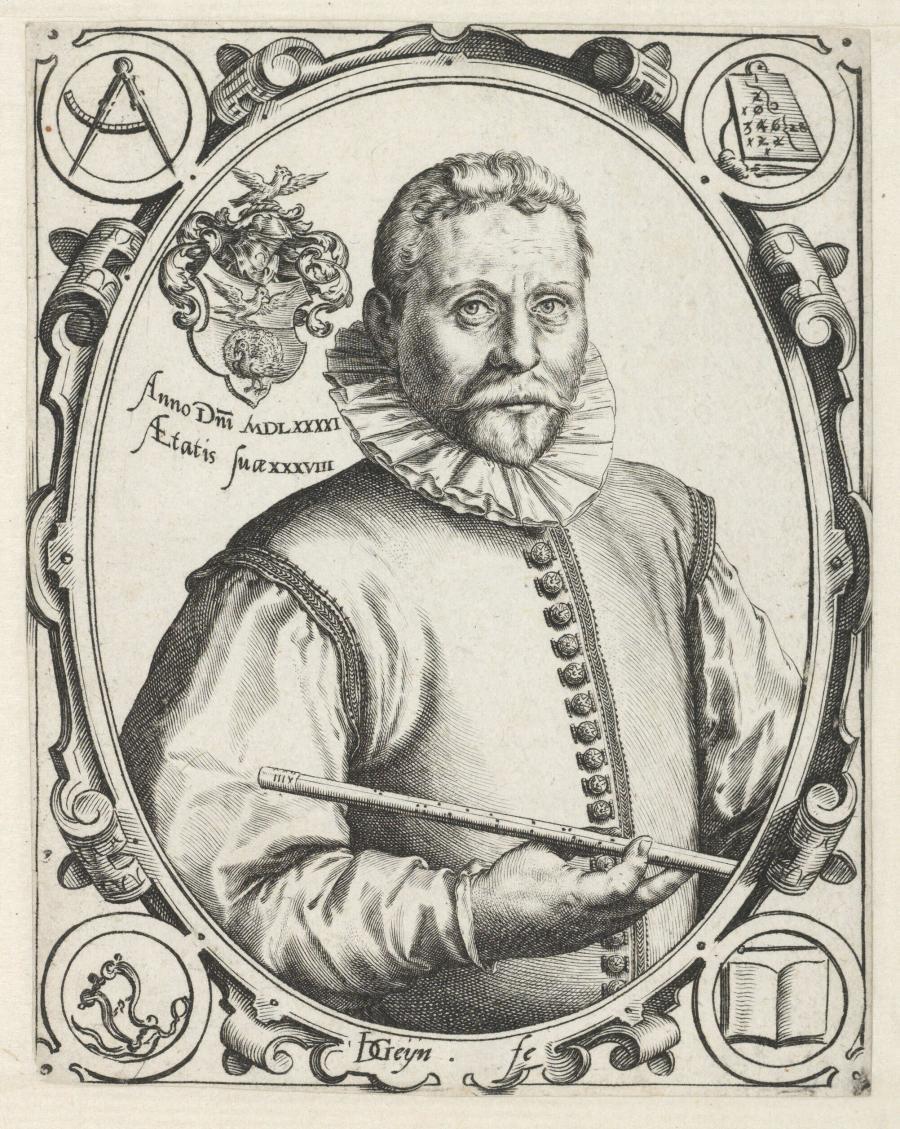 Portret van Vincent Jacobsz Coster