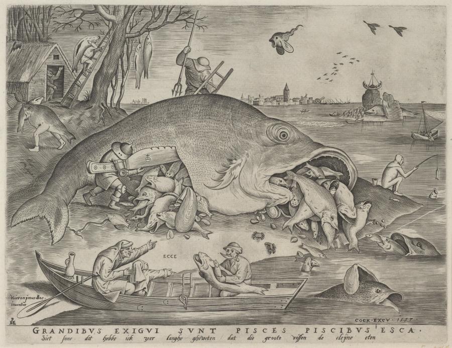 De grote vissen eten de kleine