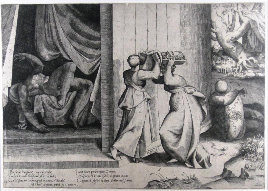 Judith geeft het hoofd van Holofernes aan haar dienstmaagd