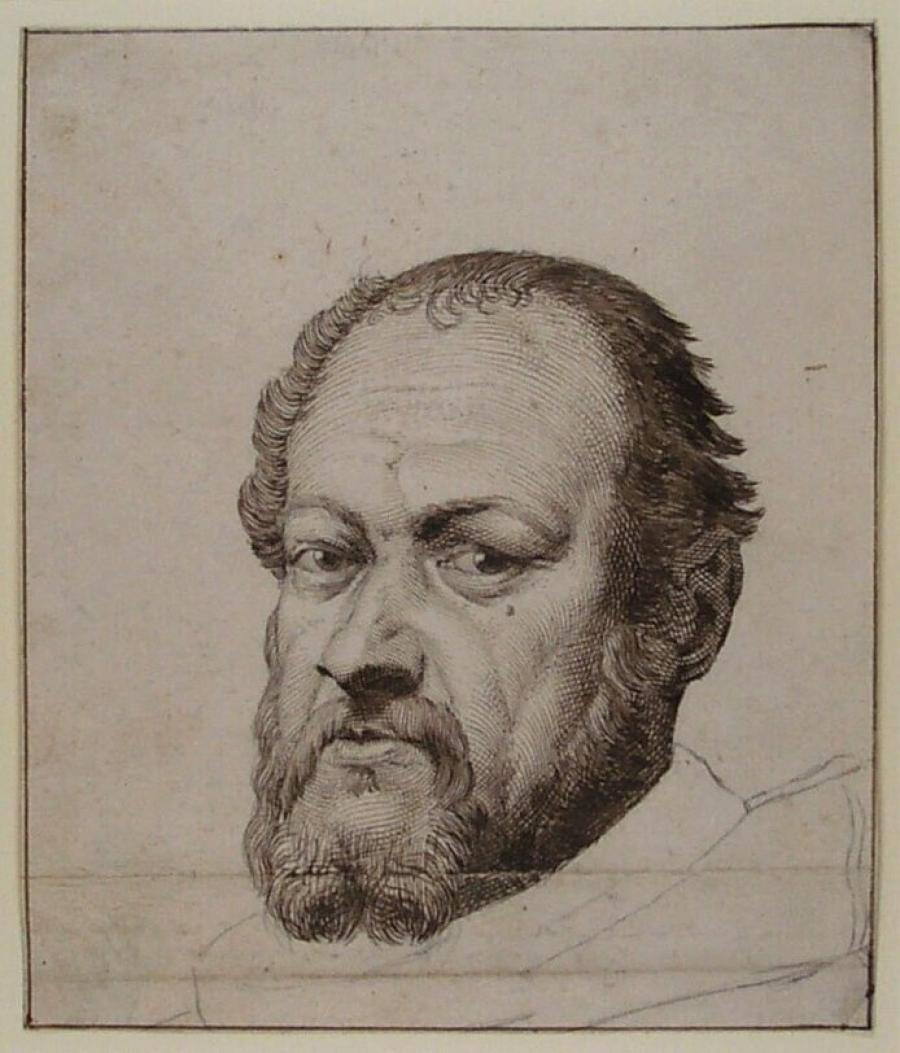 Portrait of Sebastiano del Piombo, after Titian, Design for the Print