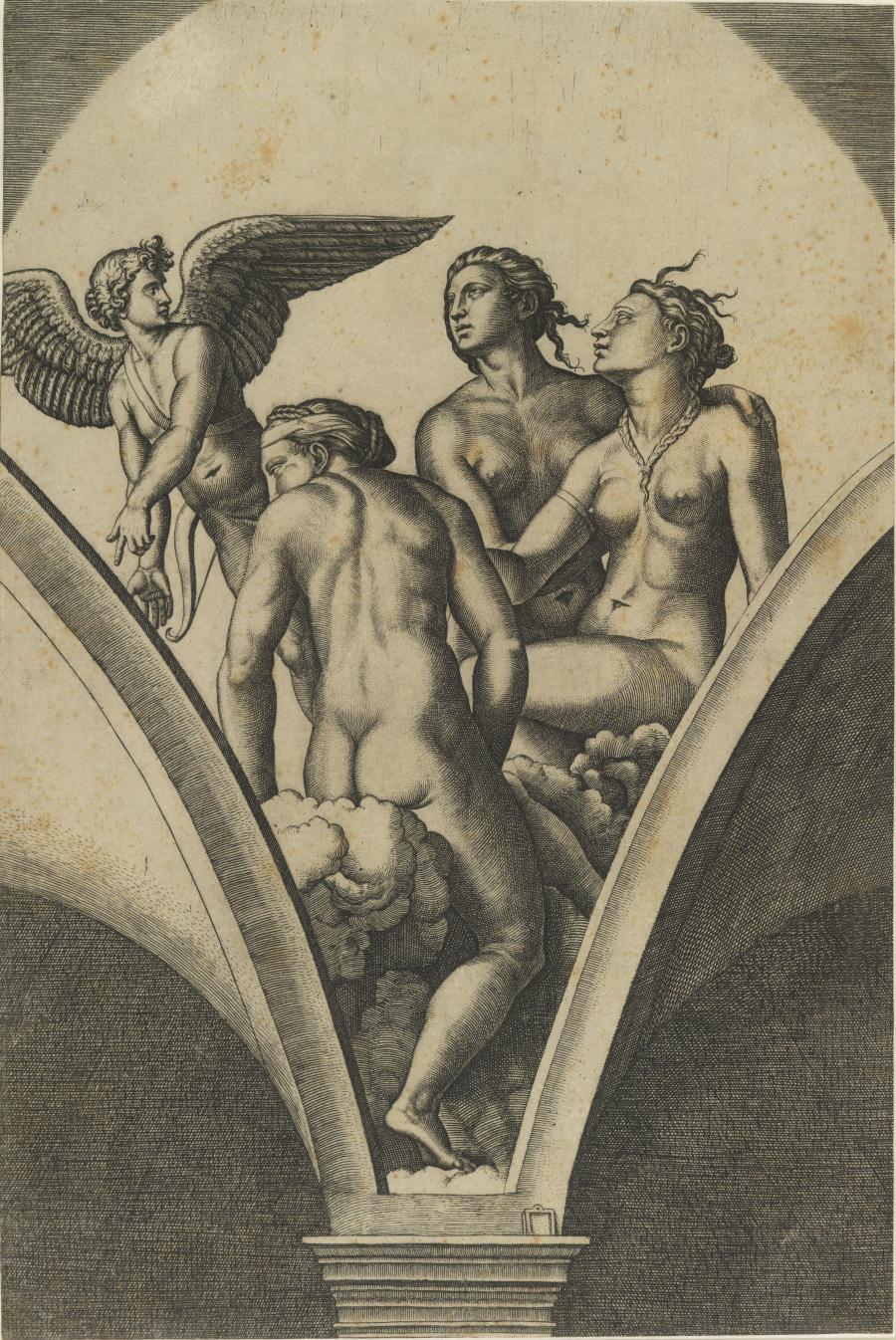 Amor en de drie gratieën