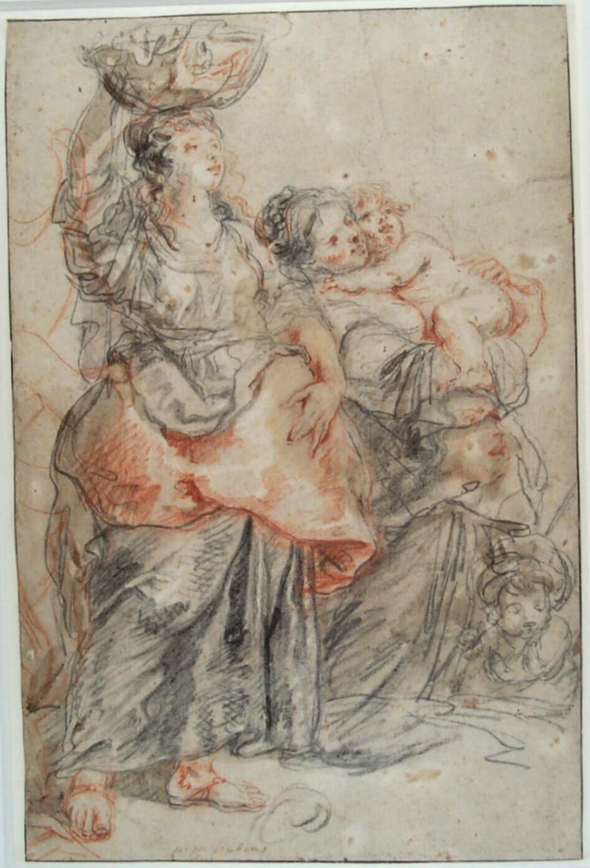 Twee boerenvrouwen (naar Rubens)
