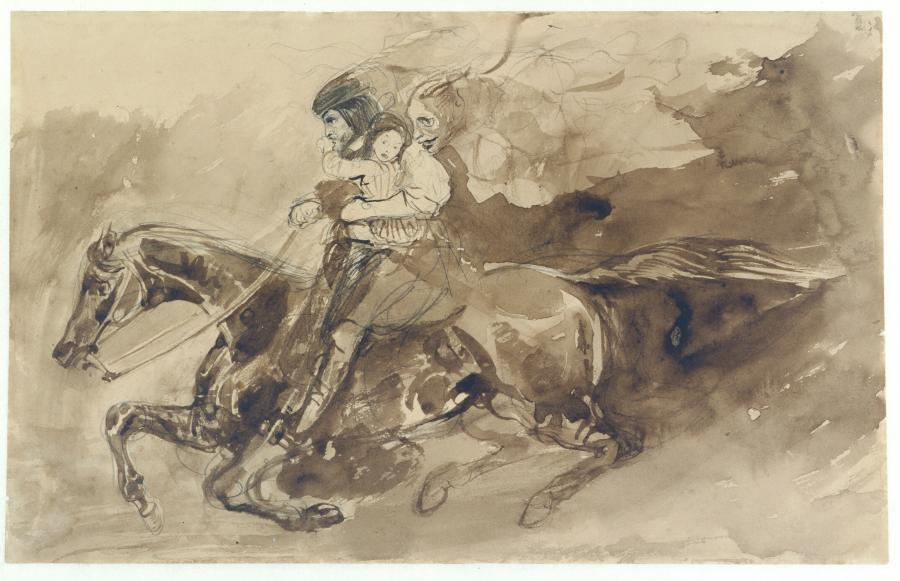 The Erl King (from Goethe's famous ballad 'Erlkönig')