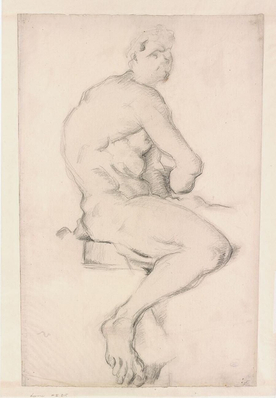 Study after the Hercules Sculpture by Pierre Puget in the Louvre