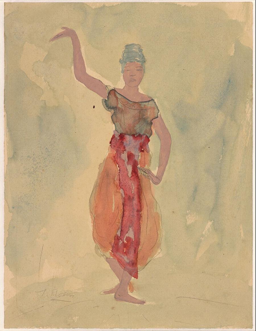 Cambodian Female Dancer (possibly falsification)