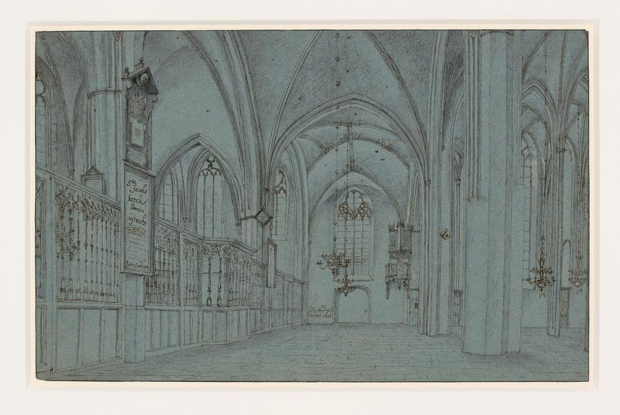 Interior of St James' Church in Utrecht