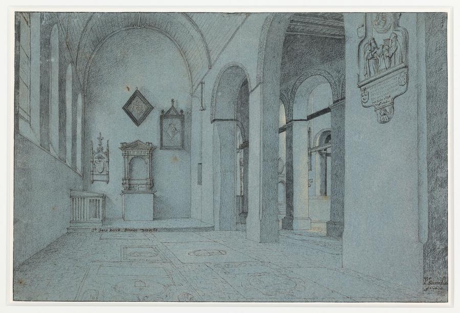 Interior of St John's Church in Utrecht
