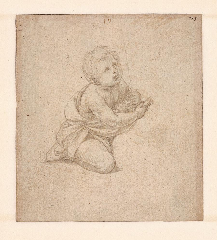 Study for the Kneeling Infant St John in 'The Alba Madonna' (Washington, National Gallery of Art)