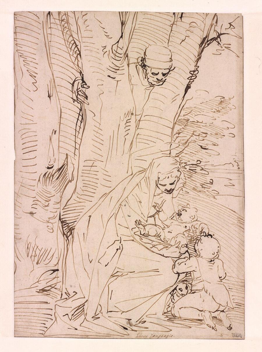 De Heilige Familie met de jonge Johannes de Doper