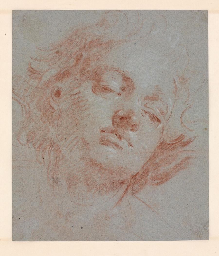 Head of a Youth with closed Eyes