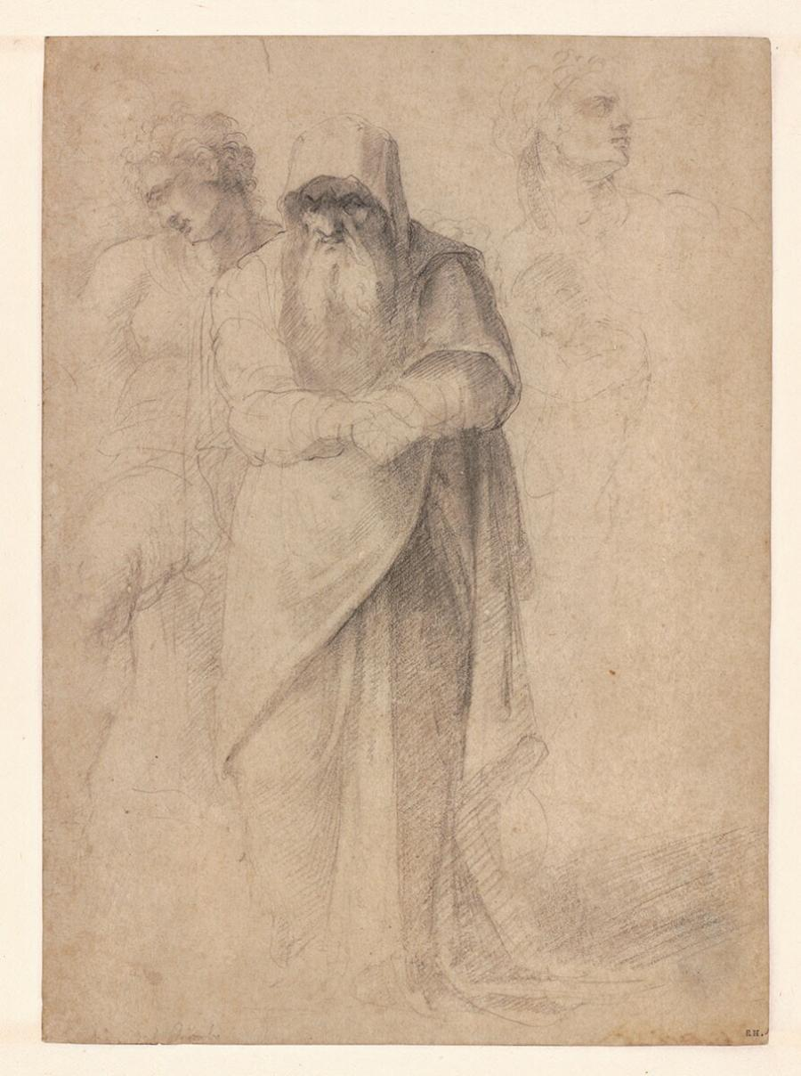 Studies of a Standing Old Man and Three Other Figures