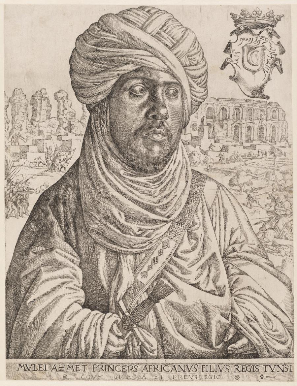 Portret van Muley Ahmed