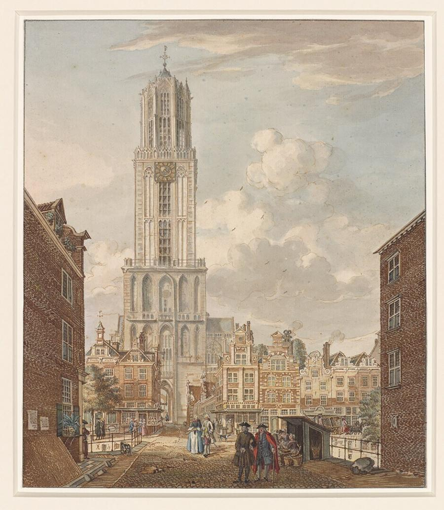 View of the Dom Tower in Utrecht