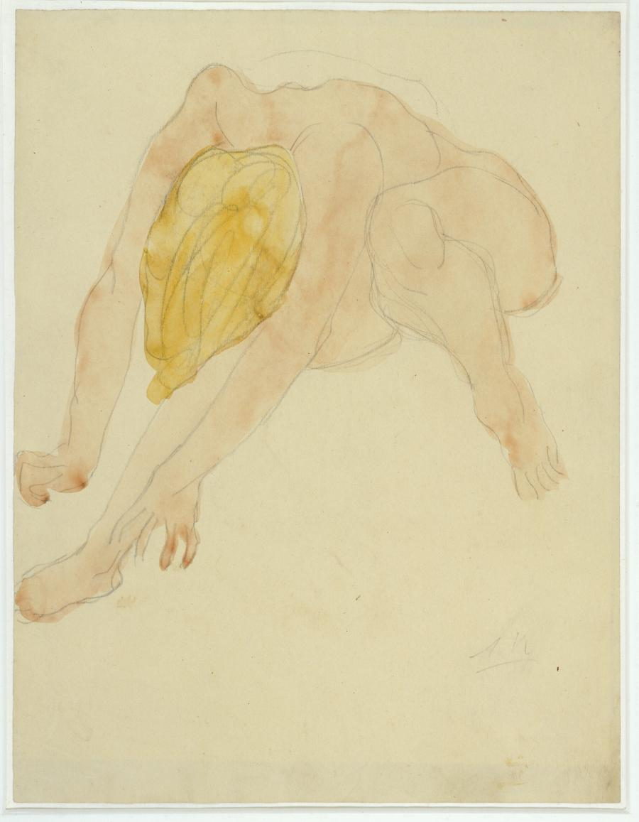 Study of a Crouching Female Nude