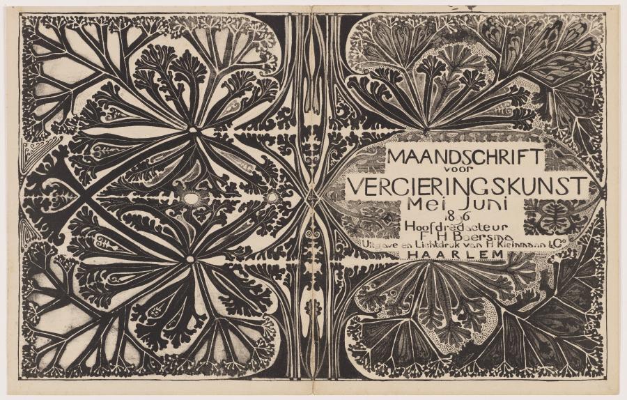 Omslag voor het 'Maandschrift voor Vercieringskunst', mei en juni 1896