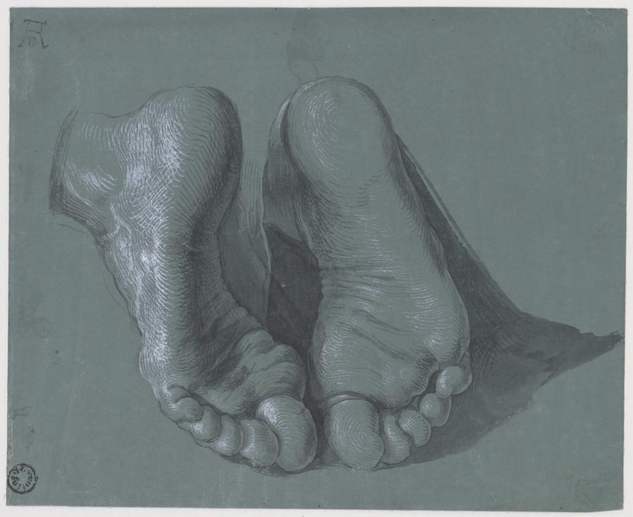 Studie van twee voeten voor de Apostel Paulus in het Heller-altaarstuk