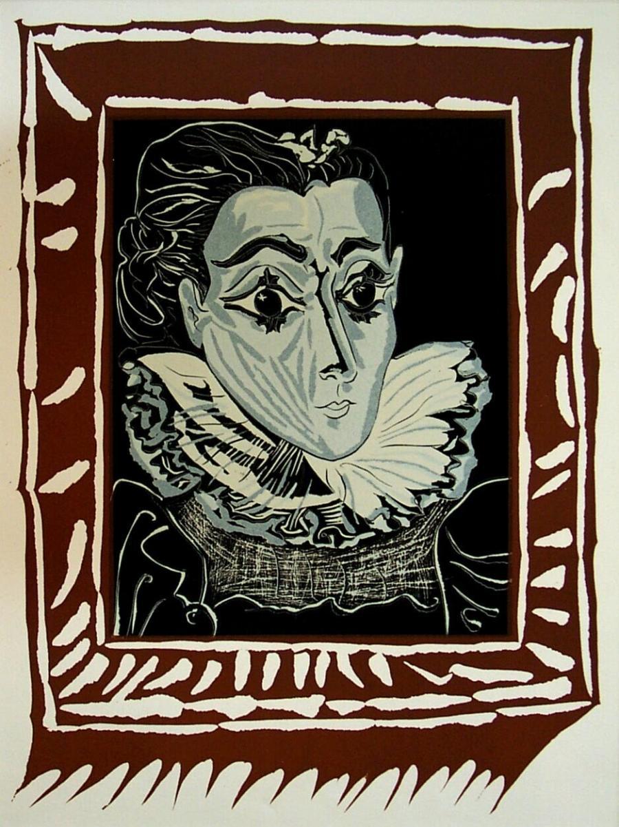 Portret van Jacqueline met een kraag