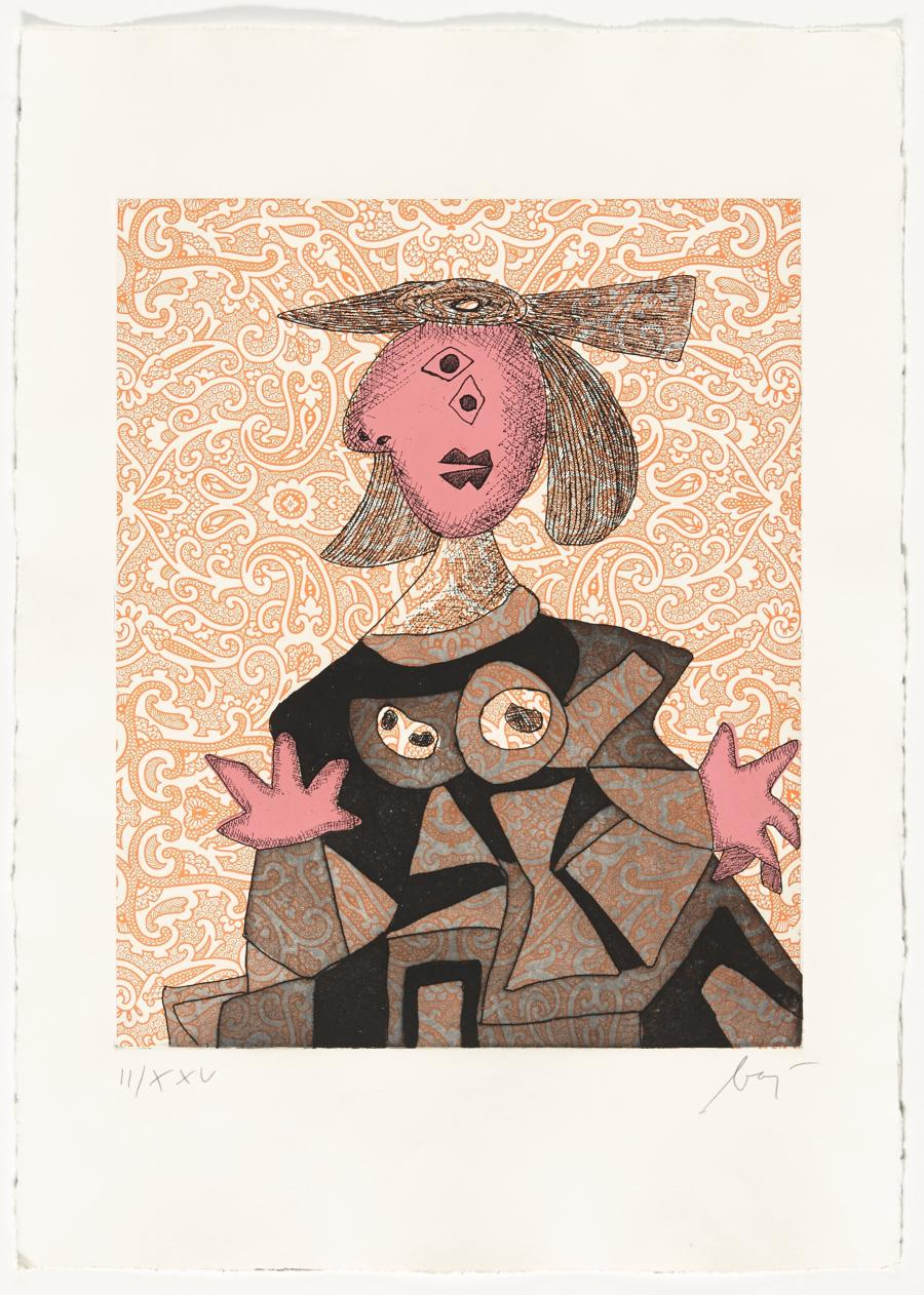 Vrouw naar Picasso