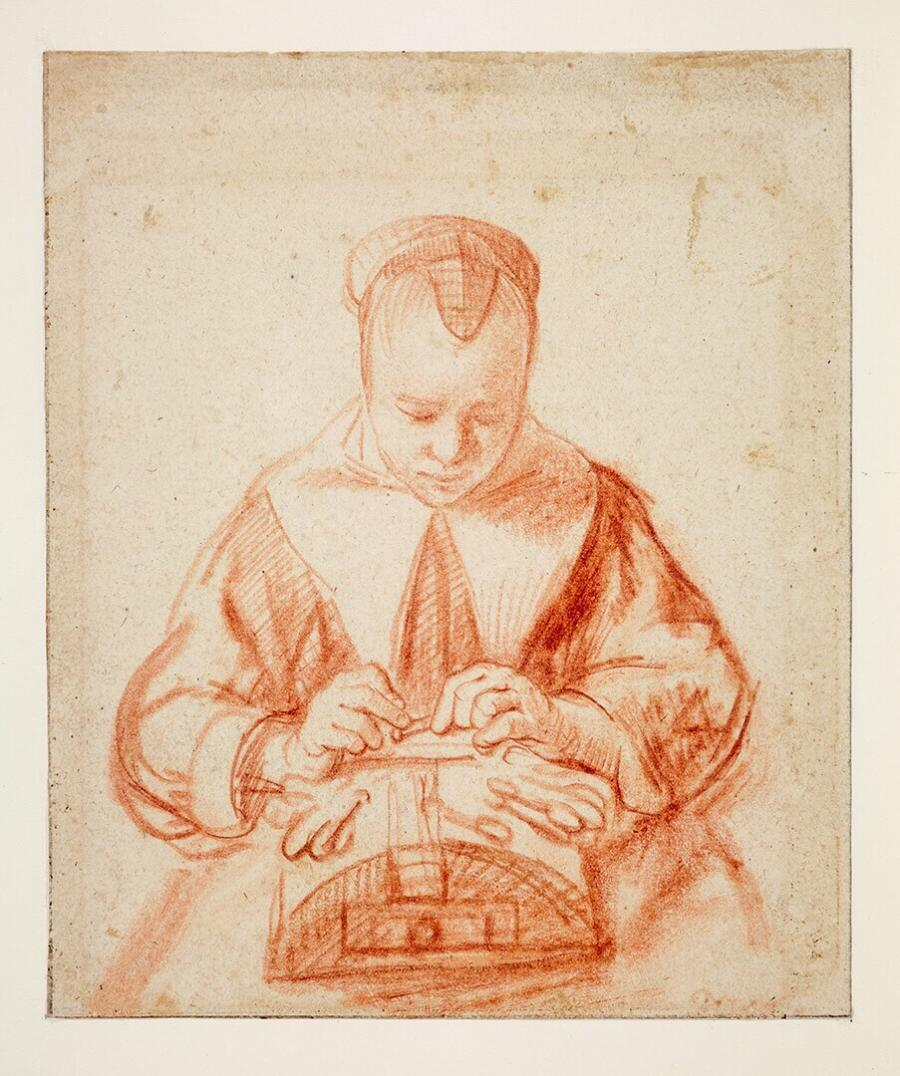 A Young Woman making Lace