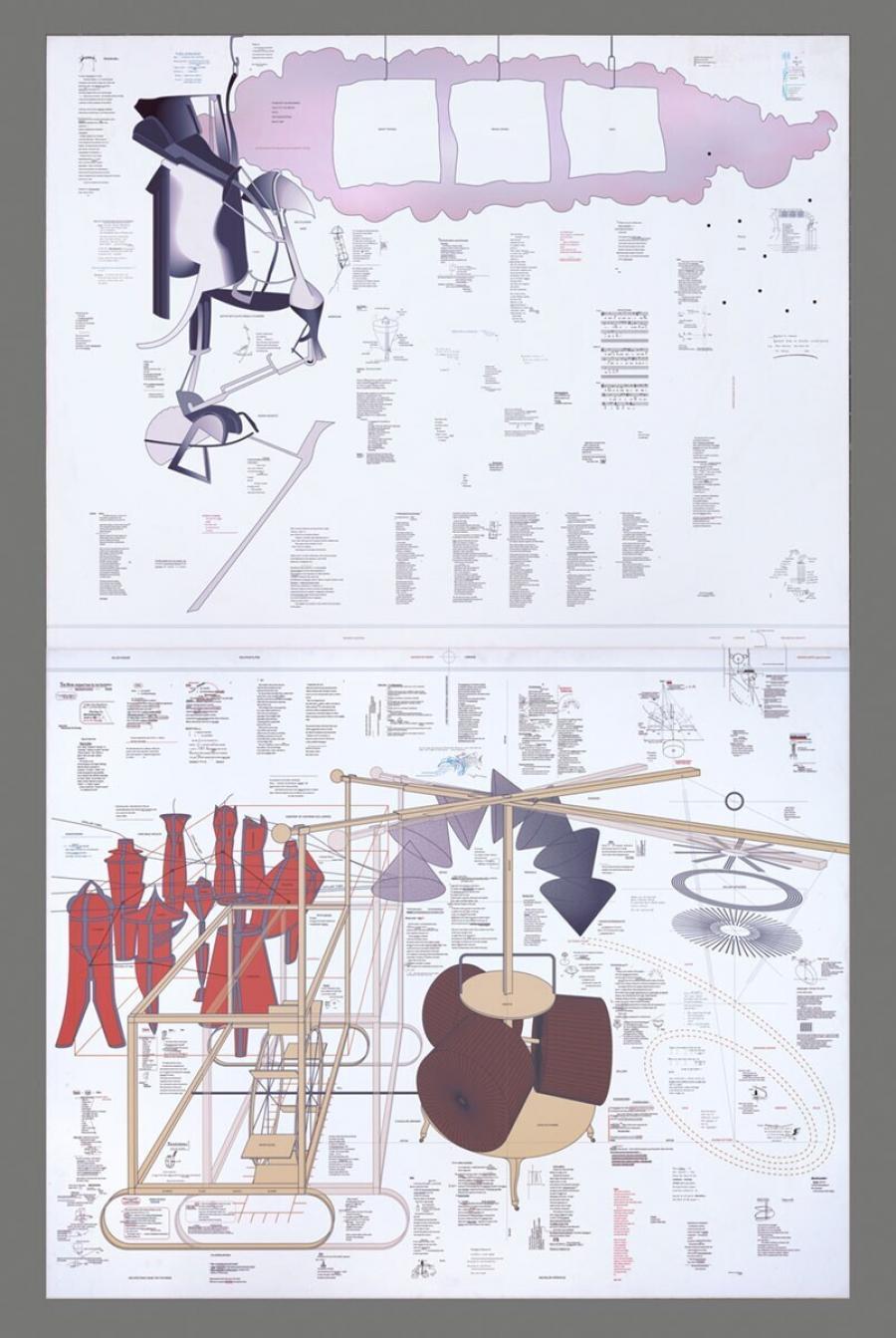 Typo/Topography of Marcel Duchamp's Large Glass (Typo/Topografie van Marcel Duchamp's Grote Glas)