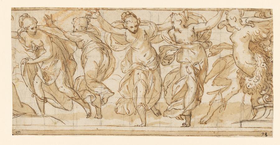 De ontvoering van Proserpina door Pluto, ontwerp voor een onderdeel van een friesdecoratie in Palazzo Giuliari in Verona