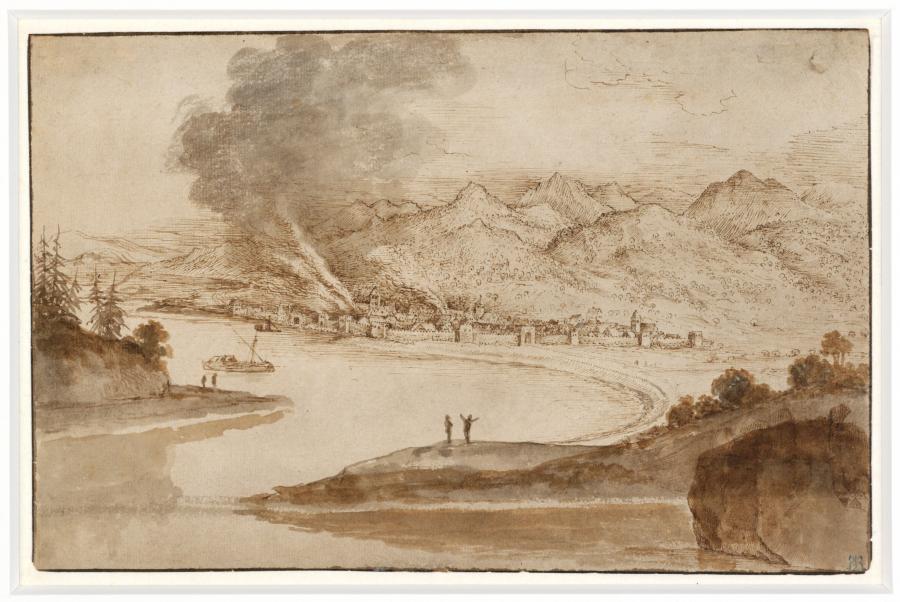 View of Reggio di Calabria on the Strait of Messina