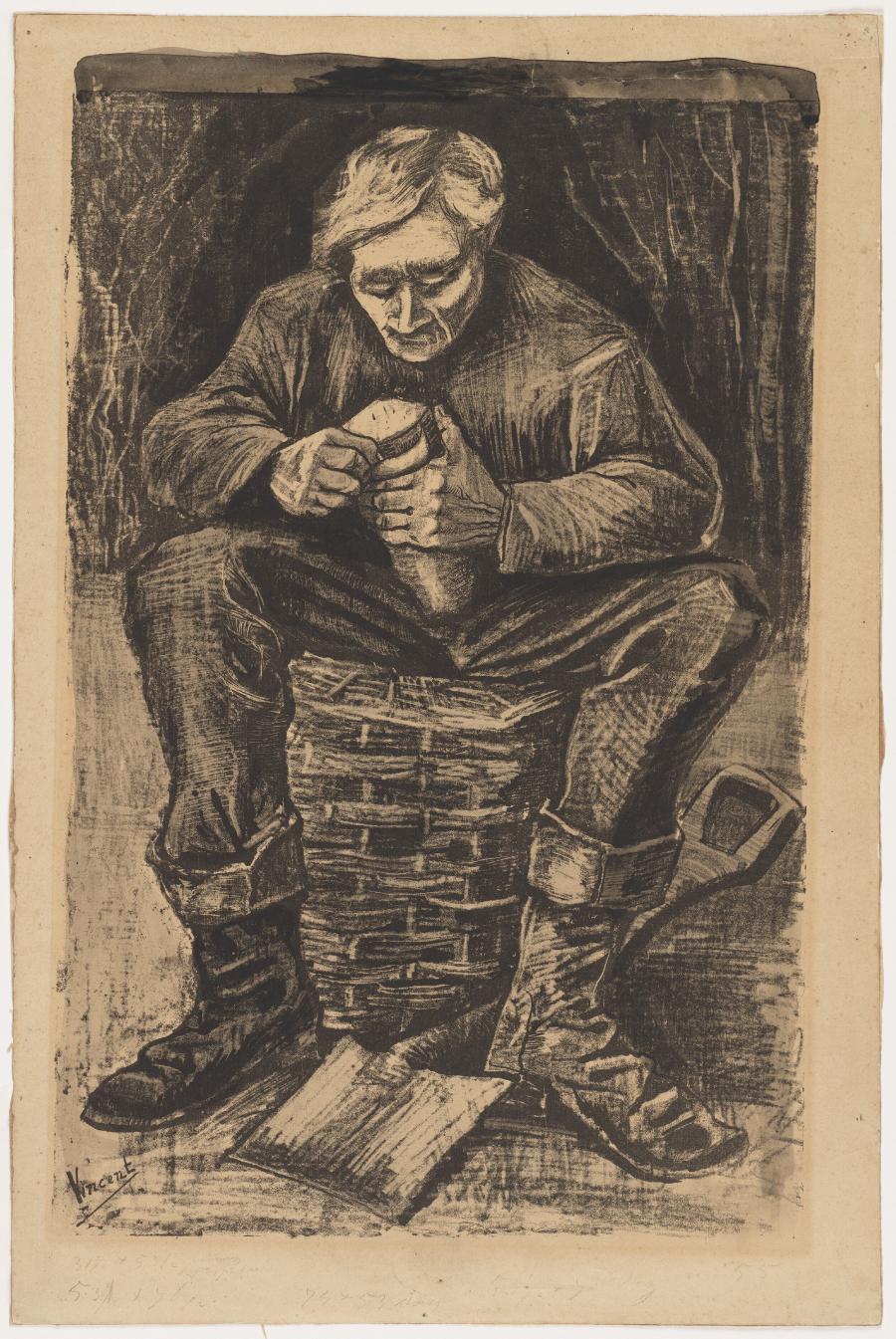 A workman's meal-break