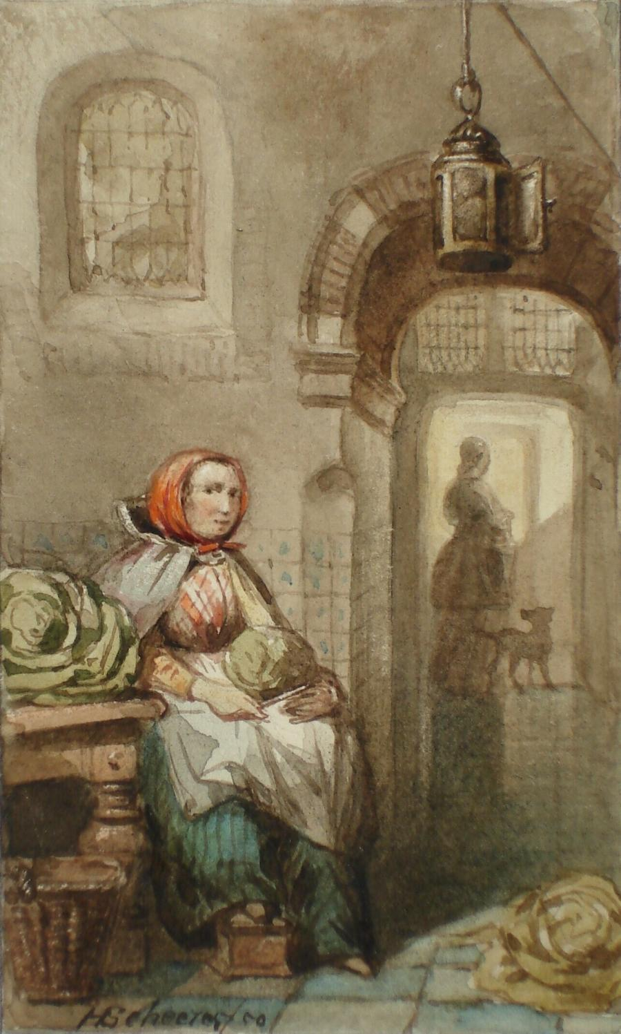 Woman with Vegetables in a Kitchen