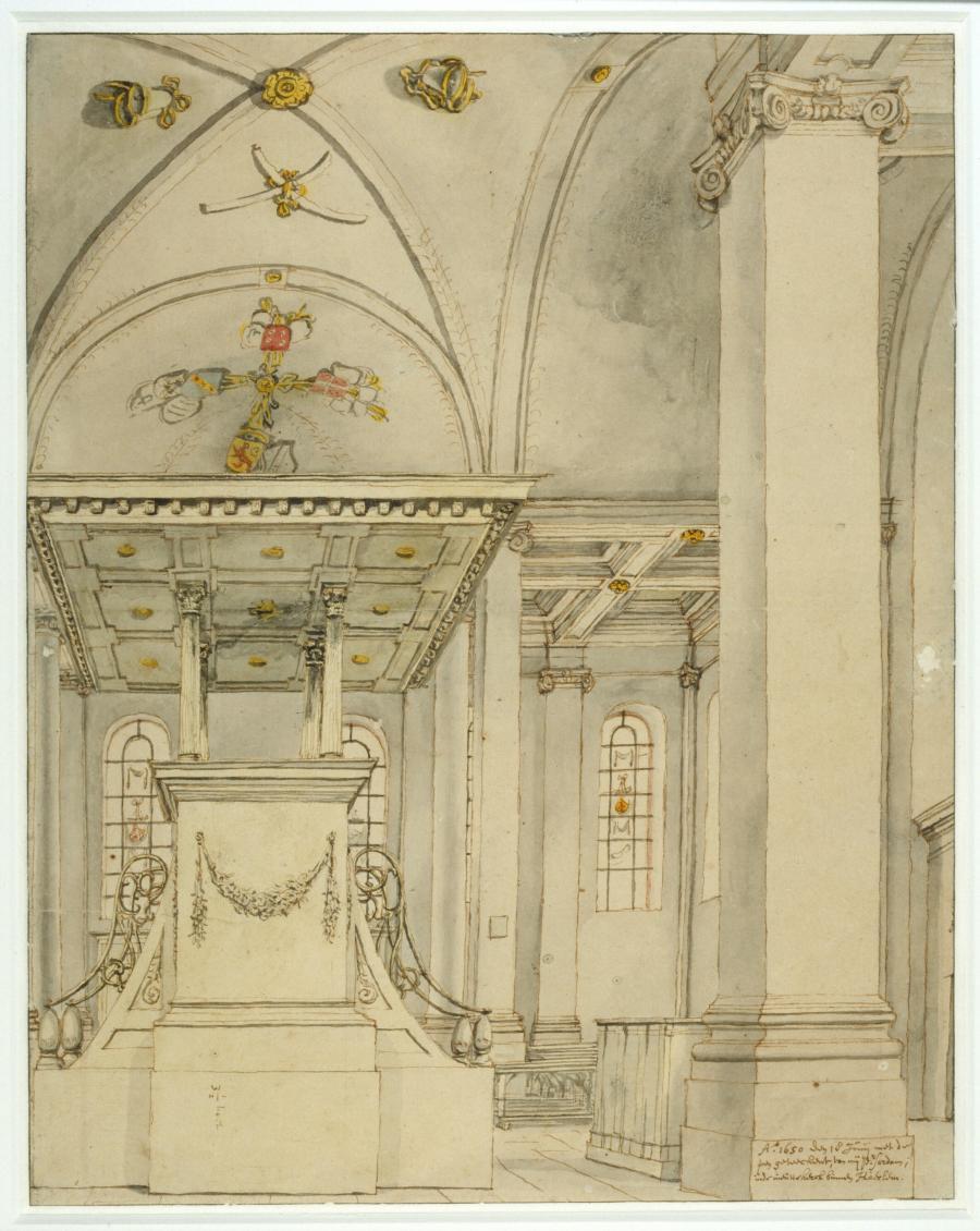 Gezicht in de Nieuwe Kerk te Haarlem