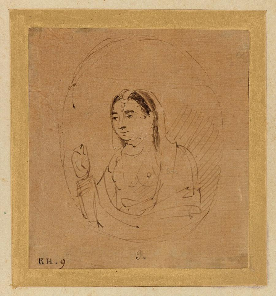 An Indian Lady, after a Mughal Miniature