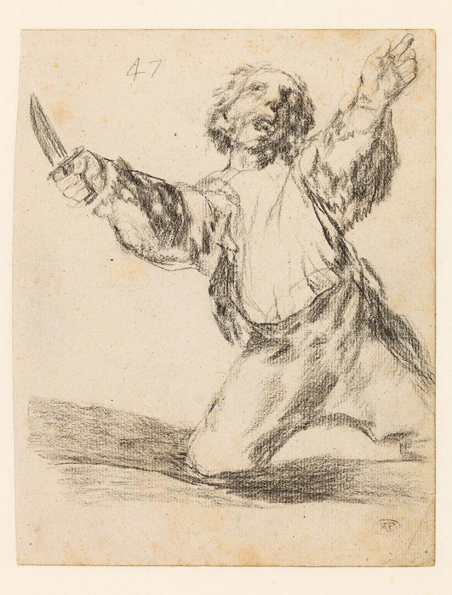 Man Brandishing a Knife
