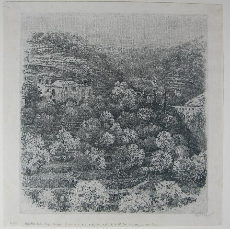 Terrassenlandschap, Taormina, Sicilie