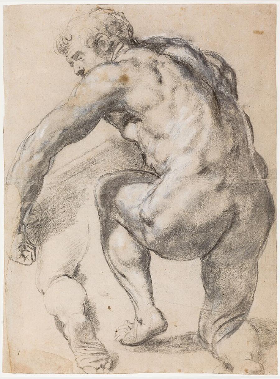 Kneeling Male Nude
