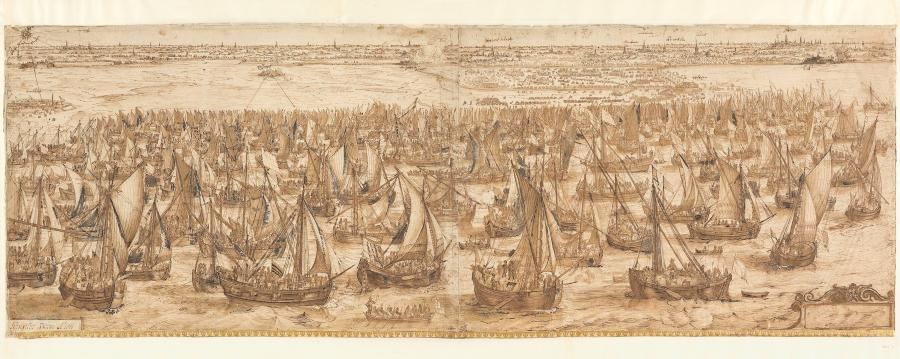 The Landing of the Army Fleet of Prince Maurits at Philippine