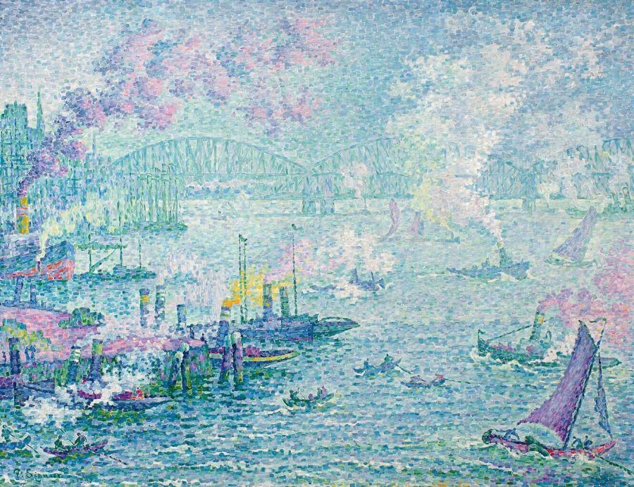 Le port de Rotterdam (De haven van Rotterdam)