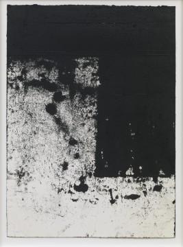 """Richard Serra: Rotterdam Horizontals #5, 2016 Etsinkt, silica, en verfstift op handgemaakt papier 43¼ x 31½"""" (109.9 x 80 cm) C/o Pictoright Amsterdam, 2017."""