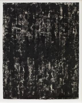 Richard Serra: Composite 1-1, 2016. Etsinkt, verfstift, silica en lithokrijt op papier, 40½ x 31½ (109.2 x 80 cm) C/o Pictoright Amsterdam, 2017